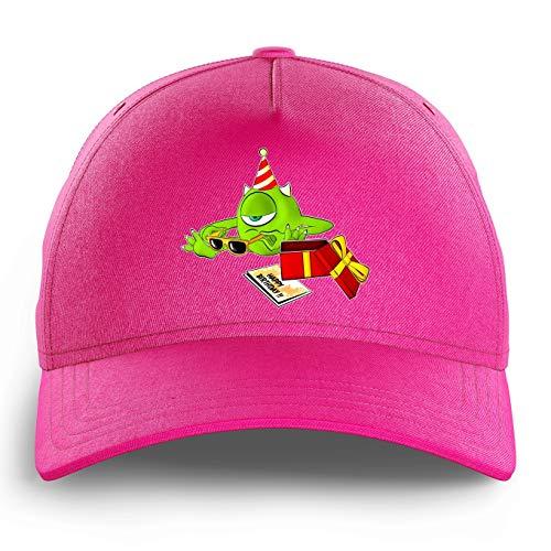 OKIWOKI Die Monster AG Lustiges Pink Kinder Kappe - Mike Wazowski (Die Monster AG Parodie) (Ref:754)
