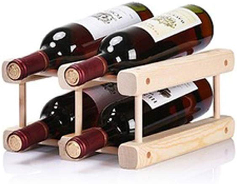 diseño simple y generoso YJLGRYF Botelleros Soporte De Almacenamiento De Estantes Estantes Estantes para VinosEstantes De Exhibición De Estantes De Madera para Vinos Vino Estante (Tamaño   A)  ventas en linea
