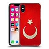 Head Case Designs Turquie Turque Drapeaux Vintage Coque Dure pour l'arrière Compatible avec iPhone X/iPhone XS