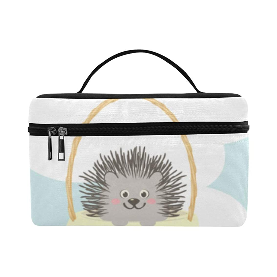 むちゃくちゃスポンサー立法GXMAN メイクボックス ハリネズミ 風船 コスメ収納 化粧品収納ケース 大容量 収納ボックス 化粧品入れ 化粧バッグ 旅行用 メイクブラシバッグ 化粧箱 持ち運び便利 プロ用