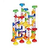 Relaxdays Circuito 120 Piezas, Set de iniciación, 75 Elementos de trenamiento, 45 canicas, diversión para niños, a Partir de 3 años, Multicolor (10031064)