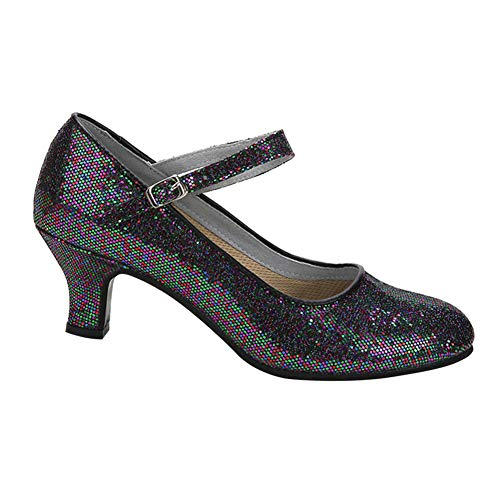 Daytwork Estándar Latinos Salsa Baile Zapatos Mujer - Mujeres Cuero Latinos Hebilla Salón Tango Danza Zapatos Alto Tacón Calzado Performance Bailarina Informal Aire Libre Deportes