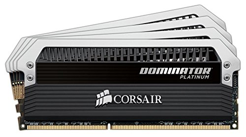 Corsair Dominator Platinum Kit di Memoria per Desktop a Elevate Prestazioni, DDR4 16GB (4x4GB), 2666 MHz C15 XMP 2.0