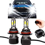 LED Headlight Bulb 9004 HB1 High Low Dual Beam 24000LM 4 Sides COB Chips High Power 240W Super Bright 6000K White Headlamp Fog Light DRL Replacement Kit