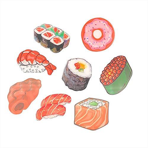 Frigorífico - magnetismo en nórdicos, catálogos, comida creativa, imanes, imán, piedra adhesiva, refrigerador, decoración de la casa DIY, Caja de Hokkaido, un conjunto de ocho