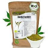 Pinati Bio Hanfprotein Pulver 1KG - EU Anbau - veganes Proteinpulver - Glutenfrei, Rohkostqualität - Premium Eiweißpulver aus Hanfsamen für Eiweißshake, Müsli, Porridge - DE-ÖKO-006