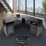 CHADIOR L Shaped Corner Computer Gaming Desk With...