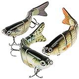 Fishing Lures for Bass Trout 6 Segment Lifelike Multi Jointed Swimbaits Slow Sinking Bionic Swimming Lures Freshwater Saltwater Bass Fishing Lures Kit
