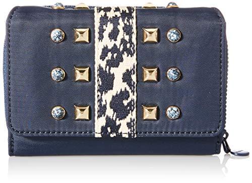 Desigual Accessories Fabric Medium Wallet, Tamaño Mediano. para Mujer, Azul, U