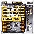 DEWALT Screwdriver Bit Set, Impact Ready, FlexTorq, 40-Piece (DWA2T40IR), Black/Silver Impack Ready FlexTorq Screw Driving Set, 40-Piece from Dewalt