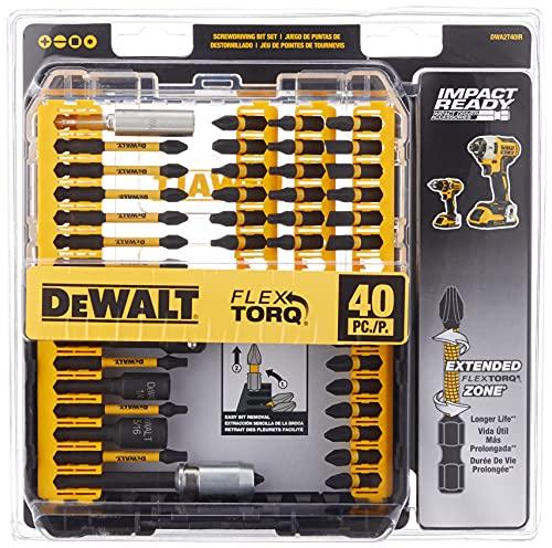 Dewalt DWA2T40IR FlexTorq Screwdriver Bit Set (40-Piece) $19.99