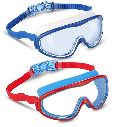 vetoky Kids Swim Goggles 2 Pack Swimming Goggles No Leaking Anti-Fog