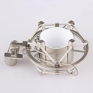 Boseen Anti Vibration Suspension Metal Microphone Shock Mount Holder Clip(Champagne)