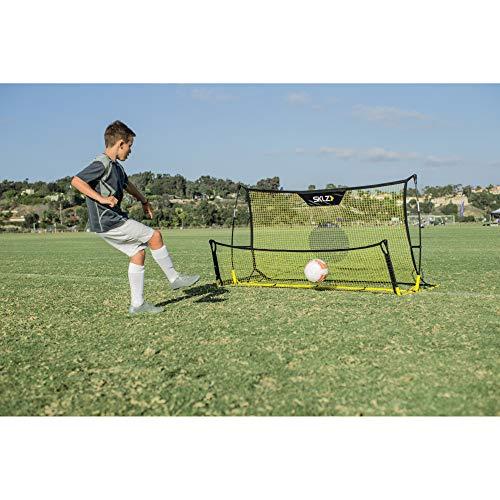 SKLZ Quickster Soccer Trainer - Portable Soccer Rebounder Net Works as a Soccer Volley Trainer, Soccer Passing Trainer and Solo Soccer Trainer. 6-Feet by 4-Feet
