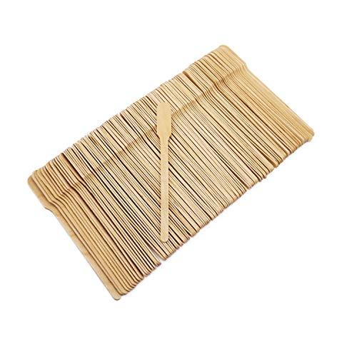 500x BIO Einweg Rührstäbchen 14 cm natur | Holz Kaffee Rührstab Paddel splitterungsfrei | nachhaltiges Einwegbesteck 100% kompostierbar | Einweglöffel Rührlöffel umweltfreundlich | silverkitchen ®