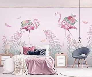 Home Improvement Helpful Free Shipping Custom 3d Wallpaper Nordic Mosaic Geometric Flamingo Leaves Tv Background Wall Wallpaper In Kids Bedroom