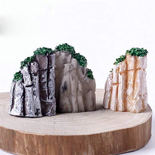 Fliyeong 5 Stücke Mini Mountain Bonsai Ornamente Micro Landschaft Fee Garten Haus Set für Topfpflanze Puppenhaus Dekoration Langlebig und Nützlich