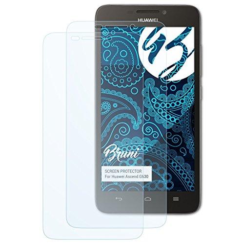 Bruni Schutzfolie kompatibel mit Huawei Ascend G630 Folie, glasklare Bildschirmschutzfolie (2X)