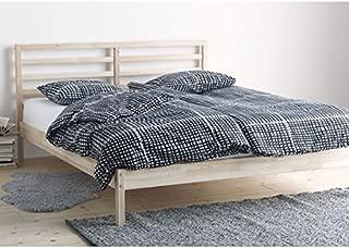 Ikea Tarva Queen Size Bed Frame Solid Pine Wood Brown