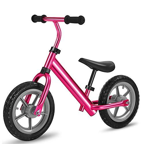 YUMEIGE Laufräder Laufrad, Laufräder, Aufblasbares Schaumrad, Kinder laufrad, Sitzhöhenverstellung pink