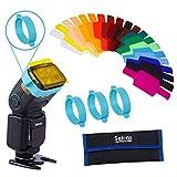 Selens 20 Stück Blitz Gele Alleigmein Beleuchtungs Gele Farbfilter für