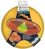 alldoro luz Sky Light de Aprox. 27 cm-Disco de frisbeescheibe con 3 LED para Playa, jardín y Exterior, para niños a Partir de 4 años y Adultos, Color Naranja, (Manfred Roser 63019)
