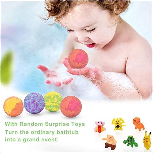 6 Large Bath Bombs for Kids with Surprise Toys Inside, Kids Safe Organic Bubble Bath Bombs Gift Set, Natural Vegan Essential Oil Spa Bath Bombs for Kids Girls Boys Birthday (4.2 oz) 2