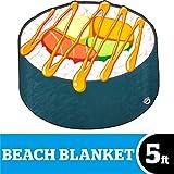 BigMouth Inc Giant Sushi Roll Beach Blanket, Oversized Beach Towel, Ulta-Soft Microfiber Towel, 5 Feet Wide, Washing Machine Friendly