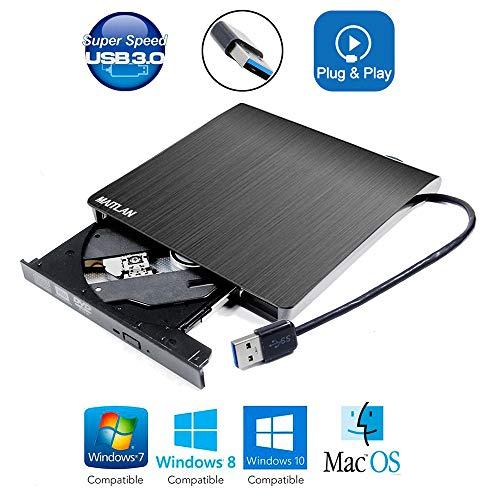 USB 3.0 External DVD CD ROM Optical Drive, for Alienware M15 R2 M17 15 17 R5 Aurora R8 R9 Area 51 M 51M Gaming Laptop X51 Desktop PC, Portable Pop-Up 8X DVD-RW DVD-RAM CD-R Player