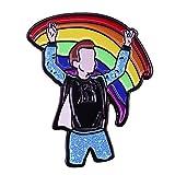 Orgoglio Bandiera Arcobaleno Spilla Amore è Amore Gay Pride Sesso Matrimonio Badge Pin Metallo Gioielli Regalo di San Valentino 1