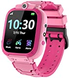 Kids Smart Watch for Boys Girls Game Smartwatch with 14 Educational Games HD Dual Camera Touchscreen Music Video Player 12/24 Hr Alarm Clock Pedometer Toddler Watch Learning Toys Birthday Gifts (Pink)