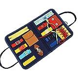 Niños Caja ocupada Hebilla de 1-5 años de Edad con botón de Cremallera Lace Up Toy Montessori Educación temprana Vestimenta Ayuda Juguetes preescolares para niños Suministro Industrial