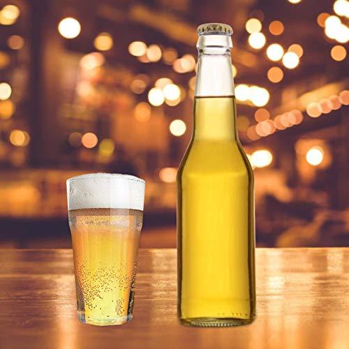Emoshayoga Copa de Vino de Vidrio de Whisky de 350 ml para Bar para decoración(Transparent, Octagonal Cup 350ml 7.7 * 14)
