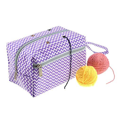 Knitting Bag katoenen doek met opbergzak voor het opbergen van accessoires DmC-bolletjes voor werk en haken zoals op de afbeelding