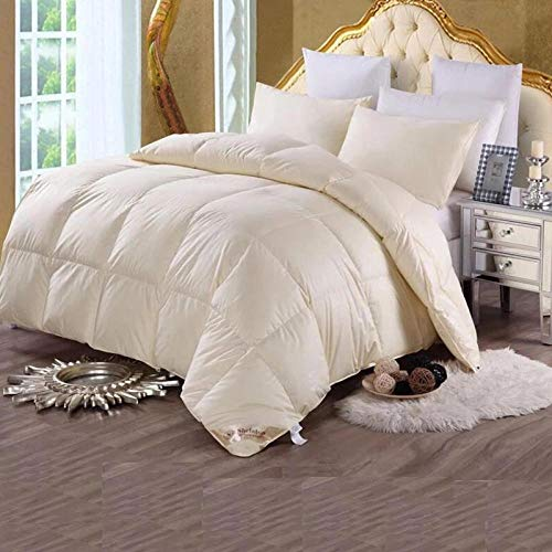 Hahaemall feather double duvet-98% White Goose Feather Winter Quilt -Classic-Anti-allergy-Cooling-Duvet Quilt-yellow_200x230cm-2600g
