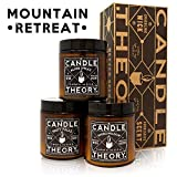 Scented Candle Gift Set With Crackling Wood Wicks - 3, 4 oz Candles - Misty...
