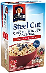 Quaker Instant Steel Cut Oatmeal, Cranberries and Blueberries Breakfast Cereal, 8 packets