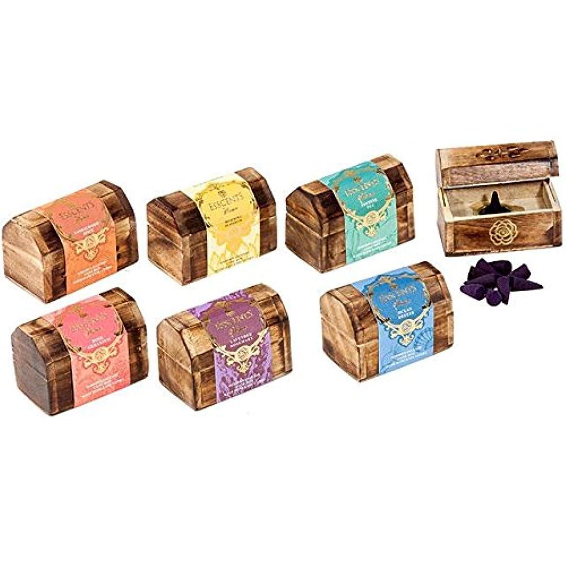 からに変化する独立した音Esscents Incense Cone Wooden Gift Set