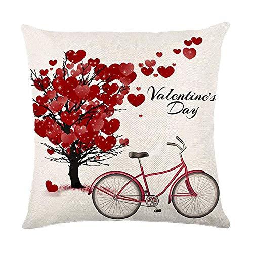 jieGorge Funda de Almohada, Día de San Valentín Funda de Almohada Funda de sofá Funda de cojín Decoración Personalizada del hogar, para el Día de San Valentín (C)