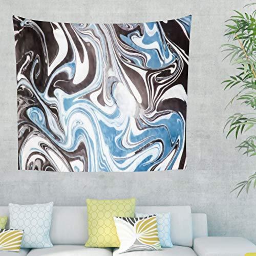 DOGCATPIG Manta de playa para colgar en la pared con textura de mármol, para dormitorio, color blanco
