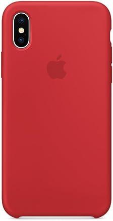 Brandtrendy Funda de Silicon para iPhone X/XS (Rojo)