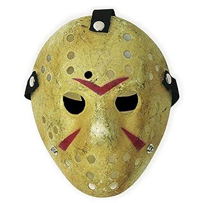 CASACLAUSI Jason Mask Cosplay Halloween Costume Mask Prop Horror Hockey Yellow from CASACLAUSI