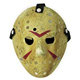 CASACLAUSI Jason Mask Cosplay Halloween Costume Mask Prop Horror Hockey Yellow