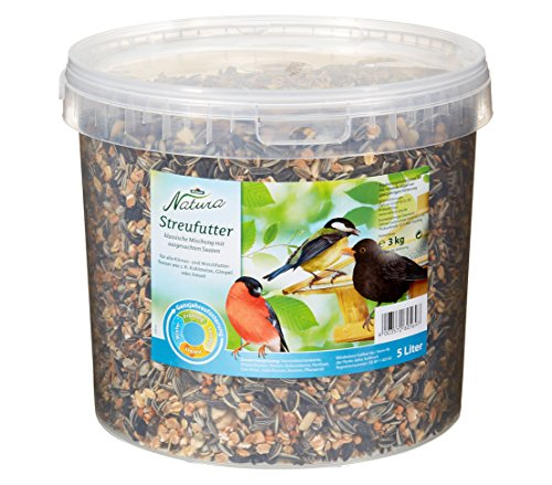 Dehner Natura Wildvogelfutter, Streufutter im Eimer, 3 kg