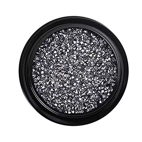Demarkt Nail Art Strass Manicure Micro Boor gemengde nagelstickers diamant grind kristal zand nagel accessoires Zwart 4 cm