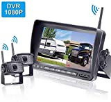 LeeKooLuu F07 HD 1080P Digital Wireless Rear View 2 Cameras for...