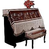 NAWS Klavierabdeckung Verdicktes europäisches einfaches Klavier-Vollabdeckungstuch Vollabdeckung Staubdichtes Tuch (Farbe: Braun, Größe: Einzelbank)