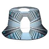 FULIYA Sombrero de pesca moderno para exteriores, con cubo, suave y transpirable, plegable, unisex Color4 S/M