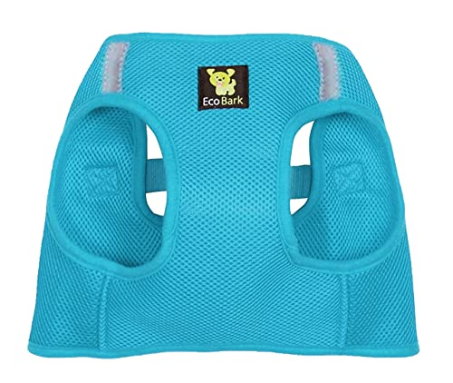 EcoBark Rapid Fastener Super Comfort Fully Adjustable Double Padded Step in Dog Harness (X-Small, Sky Blue)