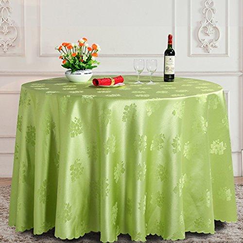 Tischdecken Konferenz-Tischdecken, Hotel-runde Tischdecke, große Bankett-Tischdecken, Hotel-Tischdecken, Durchmesser 260CM Tischtuch ( Farbe : Grün )